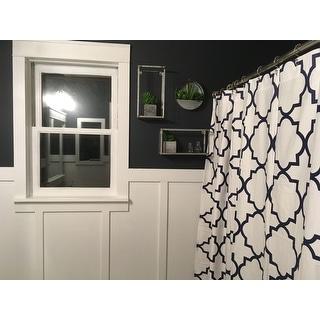 Echelon Home Quatrefoil Shower Curtain