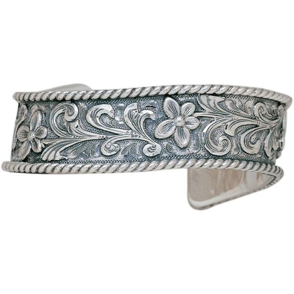 """Vogt Western Women Bracelet Sterling Scrolls 3/4"""" Silver 014-062"""