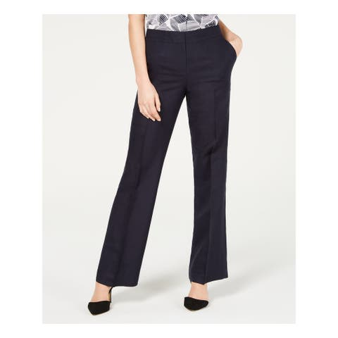NINE WEST Womens Navy Wear To Work Pants Size 8