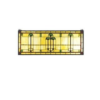 Meyda Tiffany 50825 Tiffany Stained Glass Rectangular Window Pane from the Ginkgo Collection