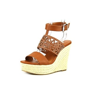 BCBGeneration Suzie Open Toe Synthetic Wedge Sandal