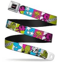 The Powerpuff Girls Black White Pink Full Color The Powerpuff Girls Action Seatbelt Belt