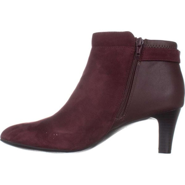 Alfani Womens Viollet Leather Closed Toe Ankle Fashion Boots