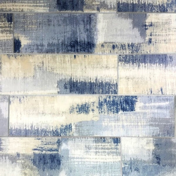 "Miseno MT-WHSWTJ0416-CB Nature - 4"" x 16"" Rectangle Wall Tile - Semi-Gloss Visual - Blue"