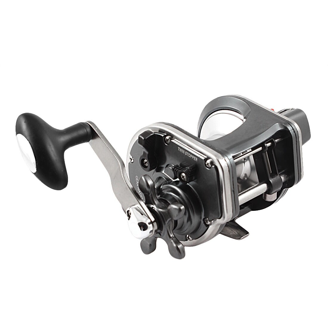 Silver Tone 4.0:1 Gear Ratio 3 Ball Bearings Power Handle Spinning Fishing Reel