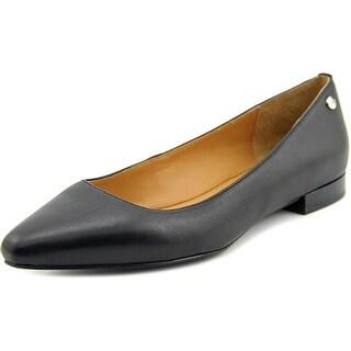 Calvin Klein Elle Women Pointed Toe Leather Black Flats