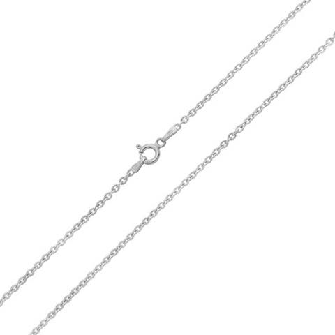 Simple Thin 1 MM 925 Sterling Silver Rolo Cable Chain Necklace For Women Made In Italy 16 18 20 24 Inch