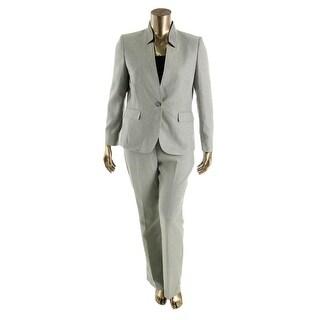 Tahari ASL Womens Irene Herringbone 2PC Pant Suit - 10