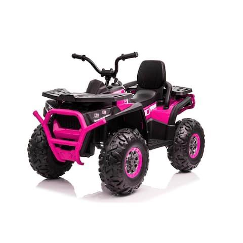12V Ride On Pink ATV