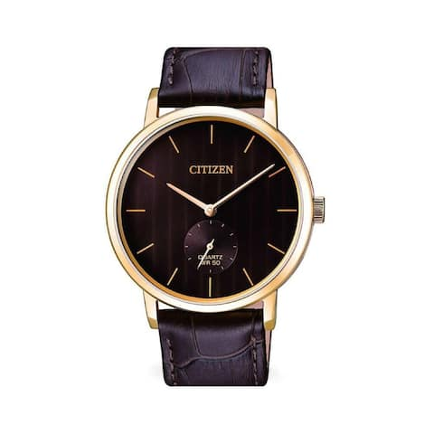 Citizen Men's BE9173-07X 'Dress' Brown Leather Watch