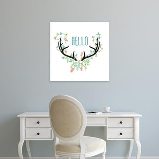 Easy Art Prints Jan Weiss's 'Hello' Premium Canvas Art