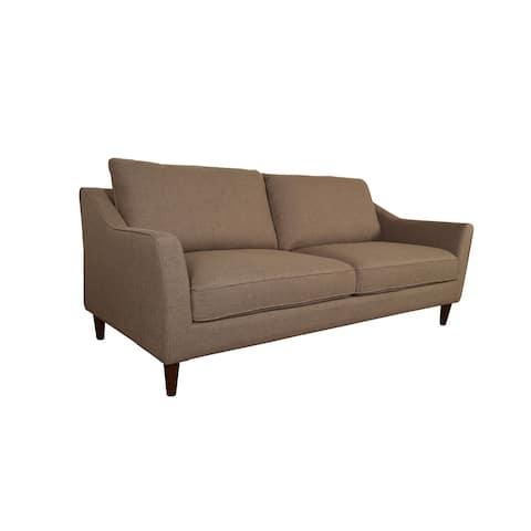 Porter Designs Bowen Contemporary Woven Microfiber Sofa, Brown