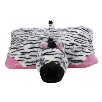 My Pillow Pet Zebra - Large (Black, White & Pink)