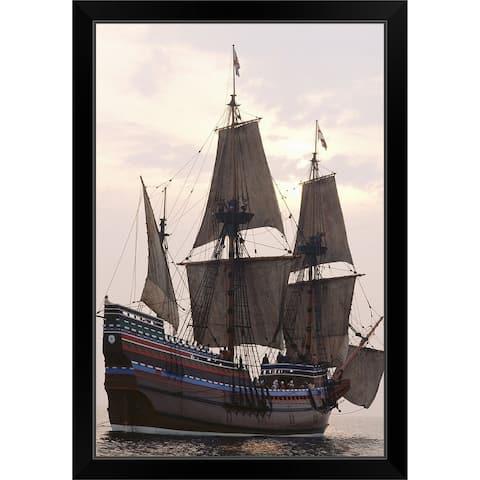 """""""Mayflower replica"""" Black Framed Print"""