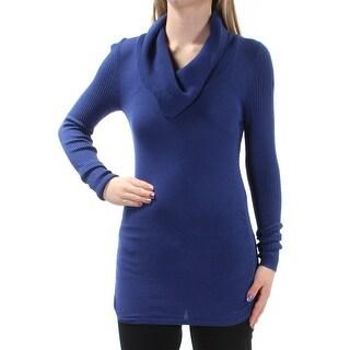 Womens Blue Dolman Sleeve Jewel Neck Sweater Size XL