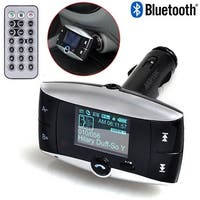 "AGPtEK 1.5"" LCD Car Kit Bluetooth MP3 Player SD MMC USB Remote FM Transmitter Modulator with caller ID function"
