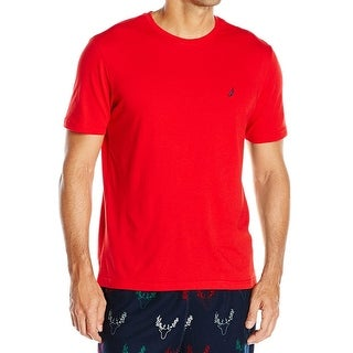 Nautica NEW Bright Red Mens Size XL Short Sleeve Crewneck Nightshirt