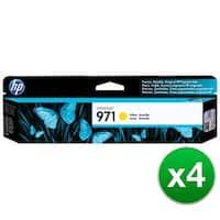 HP 971 High Yield Yellow Original Ink Cartridge (CN624AM)(4-Pack)
