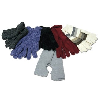 Greatlookz Assorted Winter Gloves - 6 Pairs in a Set
