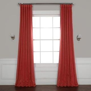 Exclusive Fabrics Faux Linen Blackout Curtain