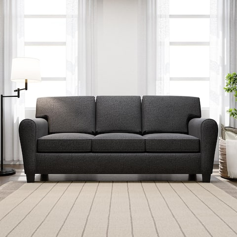 """Brookside Abby 88"""" Upholstered Rolled Arm Sofa"""