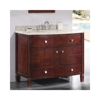 """Miseno MVGE42 42"""" Free Standing Vanity Set with Cabinet, Granite Vanity Top, Undermounted Sink and Widespread Faucet Holes"""