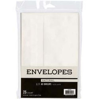 "Natural - Leader A9 Envelopes (5.75""X8.75"") 25/Pkg"