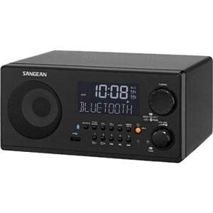 """Sangean WR-22BK Sangean WR-22 Desktop Clock Radio - 7 W RMS - Mono - 2 x Alarm - FM, AM, AM - USB - Manual Snooze"""