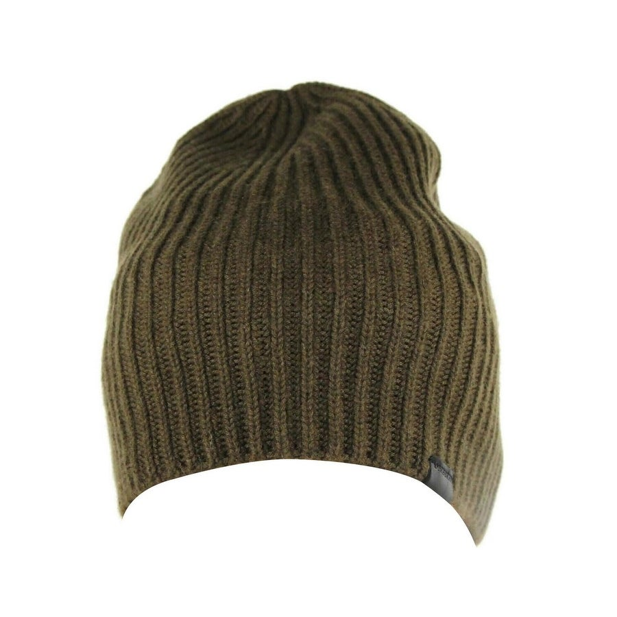 shop burberry men s olive green lightweight cashmere knitted with leather tab beanie 3994783 one size overstock 30381009 burberry men s olive green lightweight cashmere knitted with leather tab beanie 3994783 one size