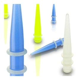 All Glow in the Dark Tapers with 2-Clear O-Ring (Sold Individually)