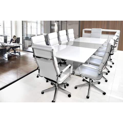 SOLIS Moda Solid Wood Lacquer Table with 10 Office Chairs