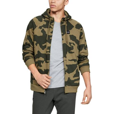Under Armour Mens Sweaters Green Size Small S Hooded Camouflage Print