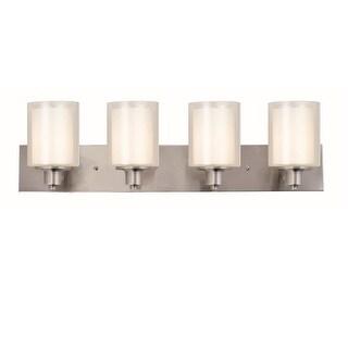 "Design House 579318 Penn 4 Light 31-7/8"" Wide Bathroom Vanity Light - satin nickel"