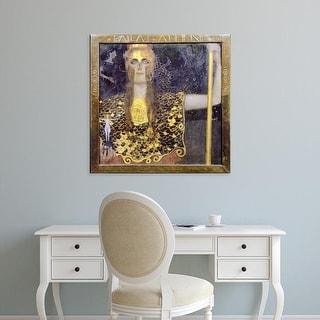 Easy Art Prints Gustav Klimt's 'Pallas Athena' Premium Canvas Art