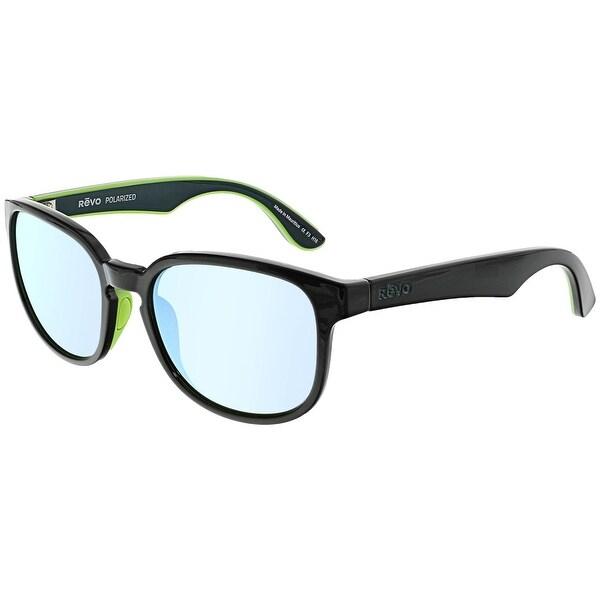 876b9e6d850 Shop Revo Men s Polarized Kash RE-1028-01-BL Black Square Sunglasses ...