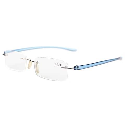 Eyekepper Reading Glasses Small Lenses Rimless Readers