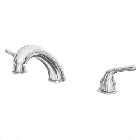 PROFLO PF5270 Deck Mounted Roman Tub Filler Trim with Metal Lever Handles with Rough-In and Trim Kit