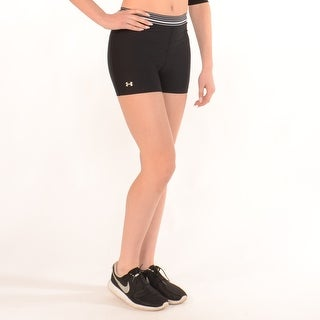Workout Compression Shorts In Black With White Stripes - BLACK/WHITE