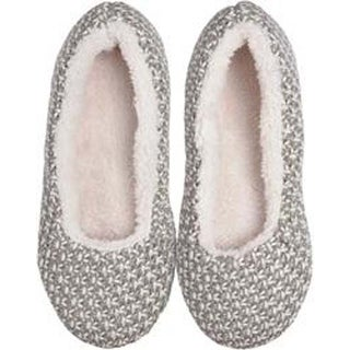 Gray Crosshatch - Small/Medium - K Bell Slippers