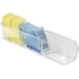 "InterDesign 55130 Linus Sugar Tea Place Cabinet Organizer, Clear, 9"""