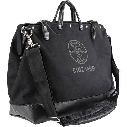 Klein tools deluxe black canvas bag 18