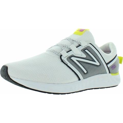 New Balance Womens Fresh Foam Vero Racer Sneakers Fitness Performance - White/Lime/Pink/Black