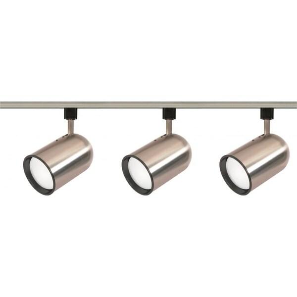 Nuvo Lighting TK342 Three Light R30 Bullet Cylinder Track Kit - Brushed nickel