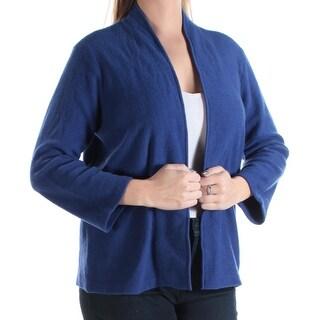 ANNE KLEIN $119 Womens 1034 Blue Long Sleeve Open Cardigan Casual Top L B+B