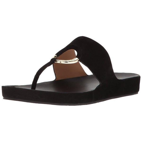 Calvin Klein Womens Mali Open Toe Casual Slide Sandals