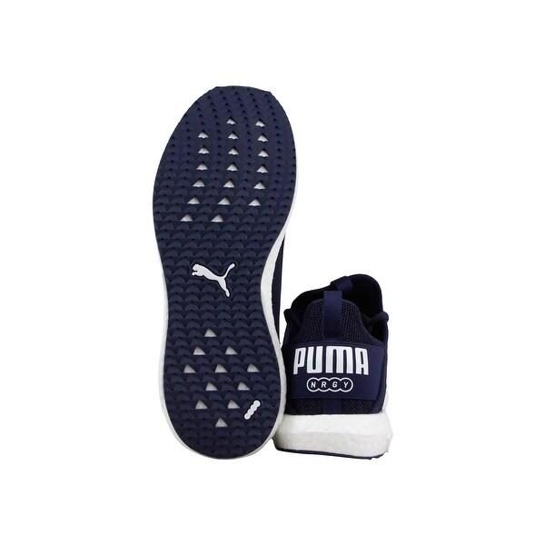 Shop Puma Mega Nrgy Knit Mens Blue Mesh