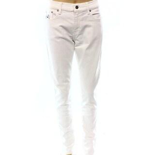 Polo Ralph Lauren NEW Women's Size 27 White Mid-Rise Slim Skinny Jeans