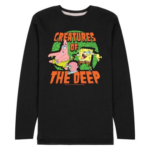 SpongeBob SquarePants - Creatures Of The Deep - Men's Long Sleeve Jersey T-Shirt