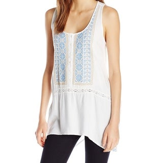 Karen Kane NEW White Women's Size XL Swing Embroidered Tank Blouse