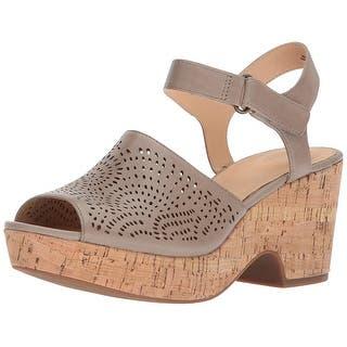 865c5372b78 Clarks Womens Maritsa Nila Leather Peep Toe Casual Platform Sandals - 11